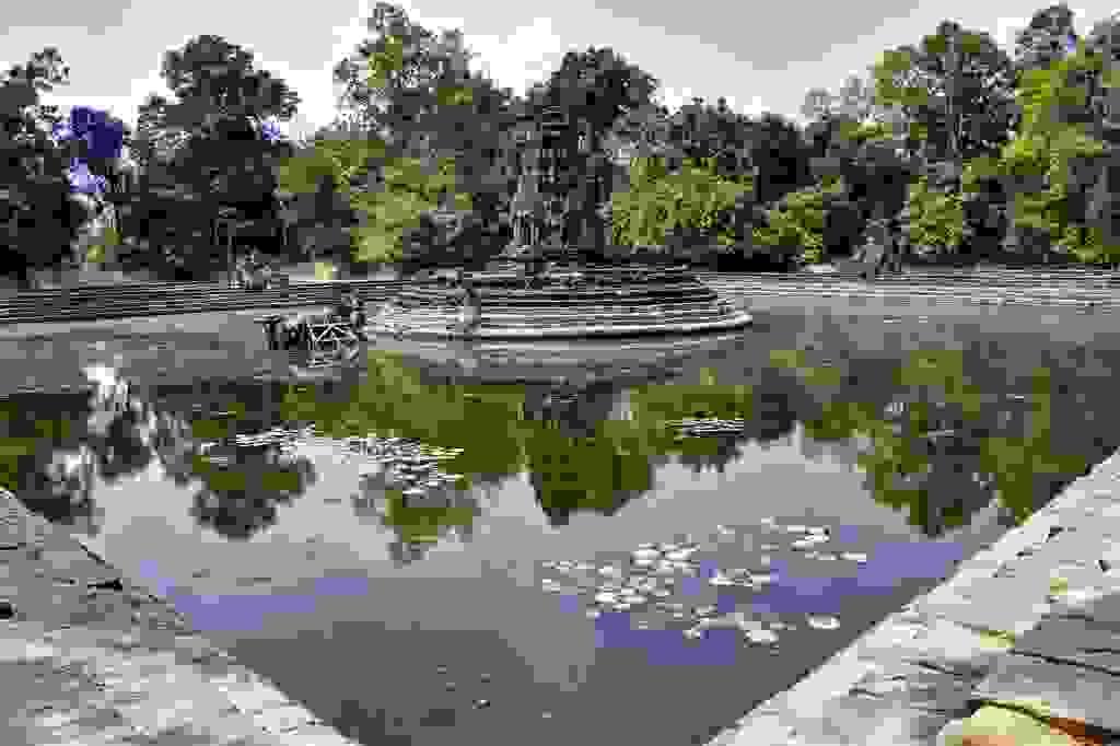kambodscha - tempel von anghor - - nördlicher baray - neak pean